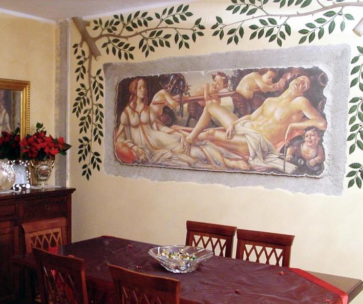 Riproduzioni di affreschi laboratorium valentano italia - Pittura su muro interno ...